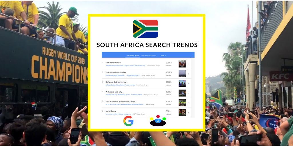 Google search trends in South Africa - Seefinish